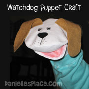 Fabric Watch Dog Puppet