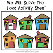 We Will Serve the Lord Activity sheet