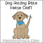 Whining Dog Holding A Bible Verse
