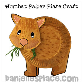 Wombat Paper Plate Craft