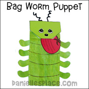 Squirmy Worm Paper Bag Puppet