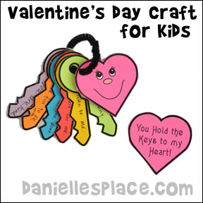 You Hold the Keys to my Heart Paper Keys and Heart Craft