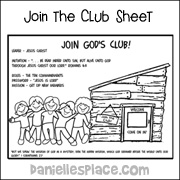 Join the Club Activity Sheet