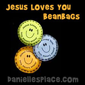 Jesus Loves You Bean Bag Craft