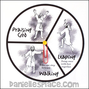 Walking, Leaping, Praising God Game