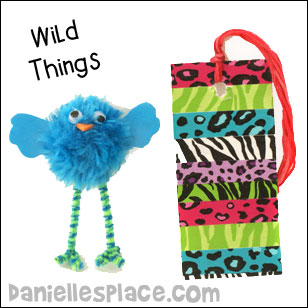WildThings Pom pom Bird and Bookmark