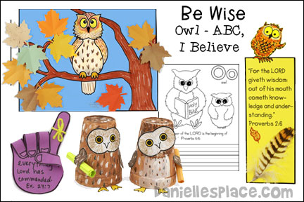 Be Wise - Owl - ABC, I Believe Bible Lesson