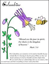 Beatitude Flowers - Columbine - Poor in Spirit