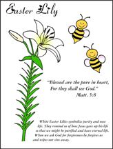 Blessed are the Pure in Heart Easter Lily Picture
