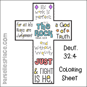 Cross Bible Verse Coloring Sheet