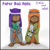 Cain and Abel Paper Bag Dolls Craft