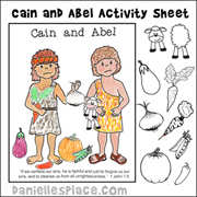 Cain and Able Activity Sheet