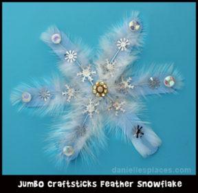Jumbo Craft Stick Snowflake Pattern