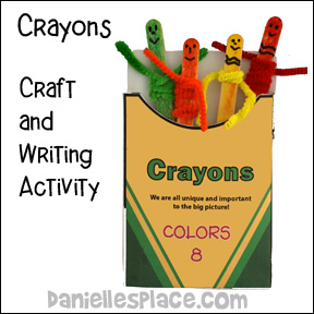 Crayon Box Writing Activity