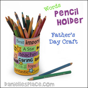 Dad Pencil Holder