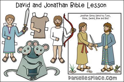 David and Jonathan - Friends Share Bible Lesson for Children