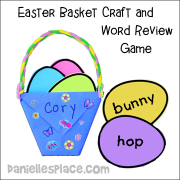 Easter Basket Craft and Word Review Game