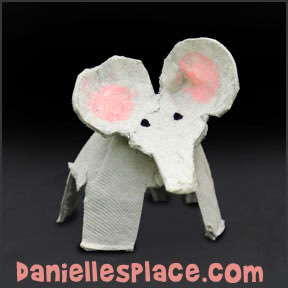 Elephant Egg Carton Craft