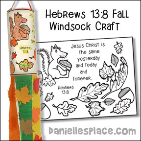 Fall Windsock Bible Craft