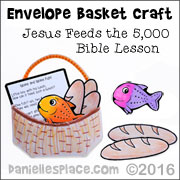 Jesus Feeds the 5000 Envelope Basket Craft