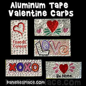 Aluminum Tape Valentine Cards