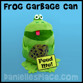 Frog Garbage Can