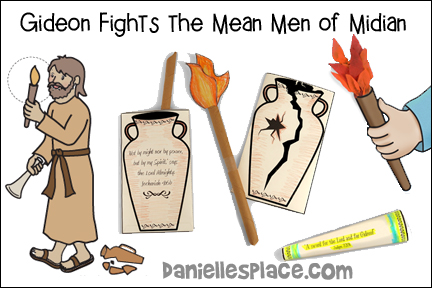 Gideon Fights the Mean Men of Median Bible Lesson