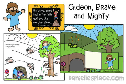 Gideon Brave and Mighty Bible Lesson