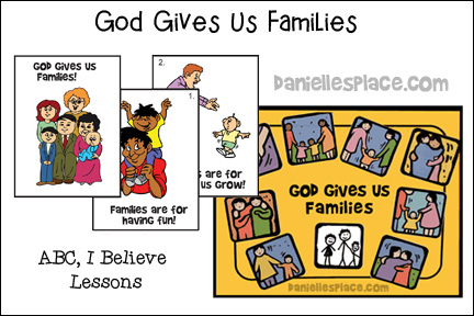 God Gives Us Families Bible Lesson