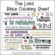 The Lord coloring Sheet