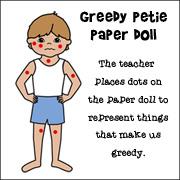 greedie Petie Paper Doll