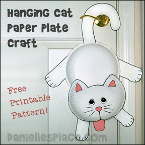 Hanging Around Paper Plate Cat Craft
