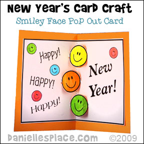 Happy New Year Pop Out Card