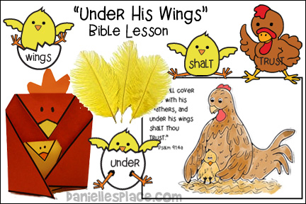 Under His Wings Bible Lesson - Hen