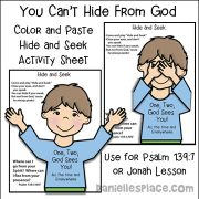 Hide and Seek Activity Sheet