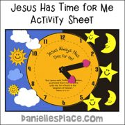 Jesus has time for me clock activity sheet