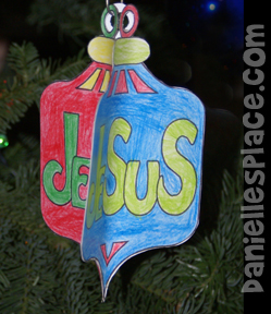 Jesus 3D Paper Ornament