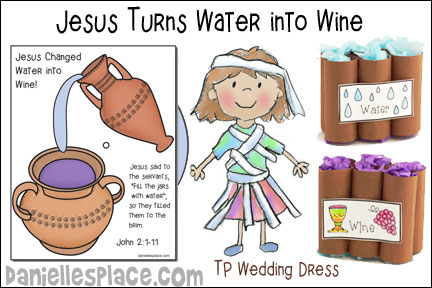 Jesus Turns Water into Wine Bible Lesson