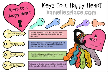 Keys to a Happy Heart Bible Lesson