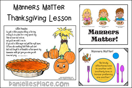 Manners Matter Thanksgiving Bible Lesson