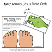 Mary Anoints Jesus Paper Craft