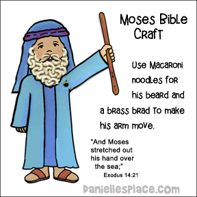 Moses Raises His Hand Bible Craft