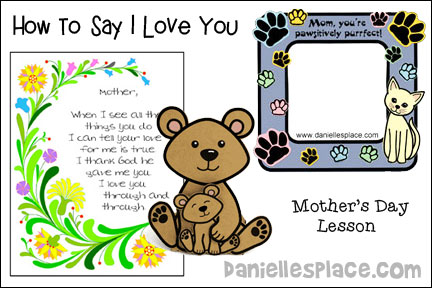 How to Say I Love You Mother's Day Bible Lesson
