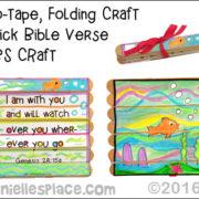 No-Tape Folding Craft Stick Pattern