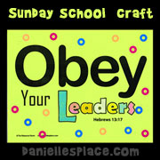 Obey Your Leaders Sheet
