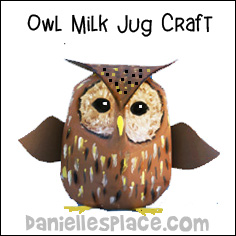 Horned Owl Milkjug Craft