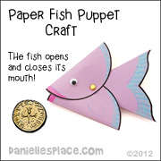 Paper Fish Puppet Craft