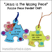Puzzle Piece Pendant Craft