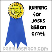 Run for Jesus Ribbon