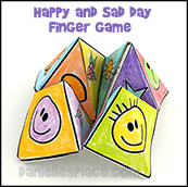 Happy Sad Day Finger Game and Craft